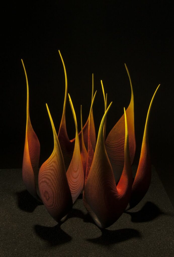 "Photo de la pièce "" heart in fire "", création originale de Coralie Saramago"